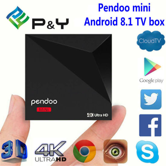 Android 8 1 Pendoo Mini Smart TV Box IPTV Apk Set Top Box WiFi Smart TV Box