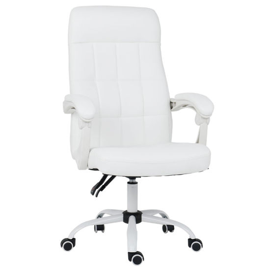 Marvelous Modern High Back Pu Executive Conference Office White Boss Desk Chair Andrewgaddart Wooden Chair Designs For Living Room Andrewgaddartcom