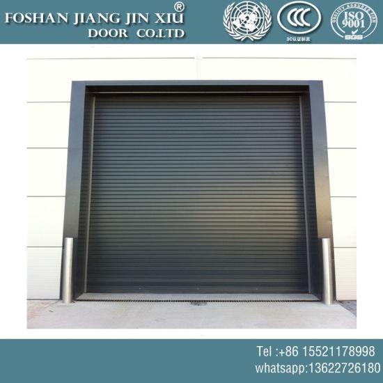 China Automatic Remote Control Steel Aluminum Rolling Garage Door