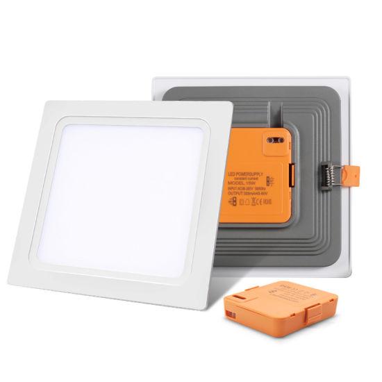 China Professional Manufacturer Slim 12watt SMD 2835 Downlight Square 240V 12W Ce Integrated LED Panel Light