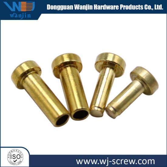Custom Brass/ Aluminum Flat Round Head Hollow Tubular Blind Rivets