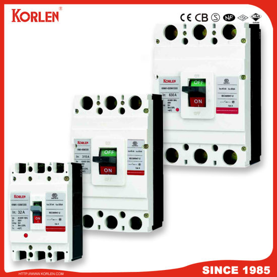 Moulded Case Circuit Breaker MCCB with Ce CB (KNM1 3P/4P) 32A~800A 3p pictures & photos