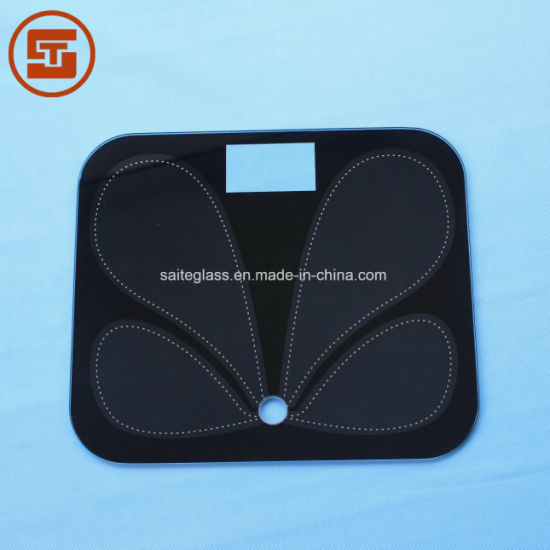 OEM ITO Glass Toughened 6mm Electronic Bathroom Weighing Fat Body Scale Glass Panel