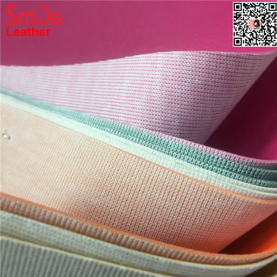 High Quality PVC Leather for Car Upholstery Faux Leather knitted Backing Cheap Price