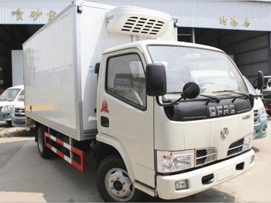 Dongfeng LHD 4X2 3 Ton 3ton Refrigerated Van Box Truck for Meat and Fish pictures & photos