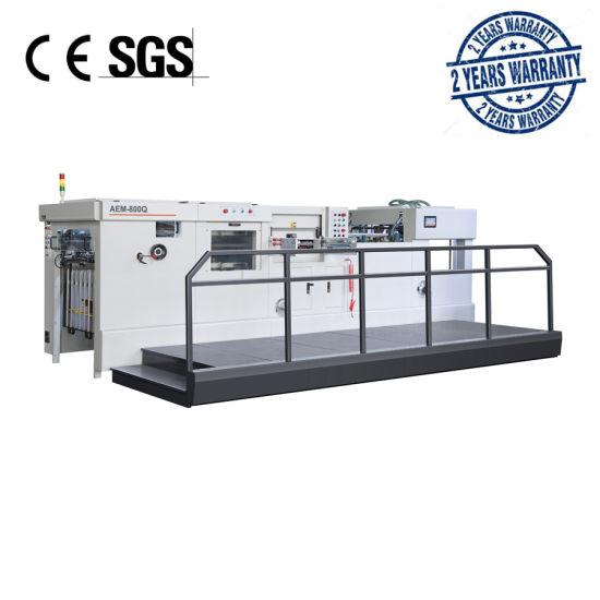AEM-800Q Automatic Flat-Bed Die Cutting Machine with Waste Stripping