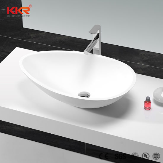Top Quality Resin Stone Corian Solid Surface Washbasin