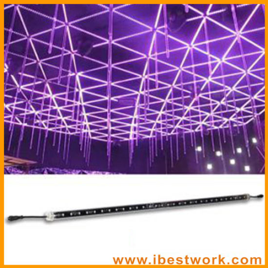 dmx 3d double sided vertical tube 1m 64 leds 16pixels falling star led christmas lights