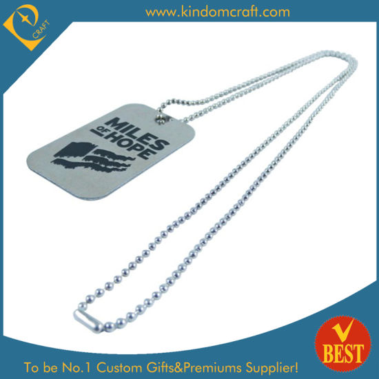 Metal Fashion Dog Tags with Ball Chain