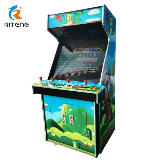 2018 Game Machine 4 Players Coin Box Upright Arcade Game