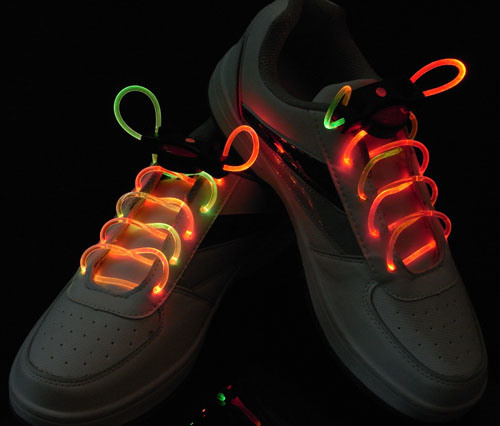 Colorful LED Flashing Shoelace pictures & photos