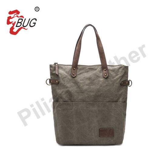 Wholesale Hot Selling Designer Custom Brands Fashion Leather Canvas Handbag