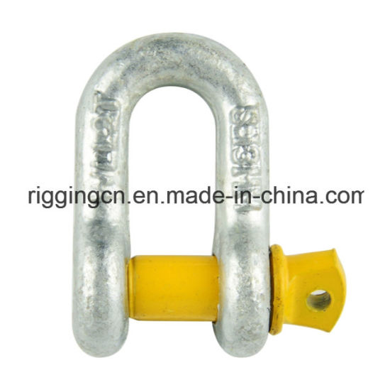 Dee Anchor Shackle for Industrial with Yellow safety Pin in Grade S pictures & photos