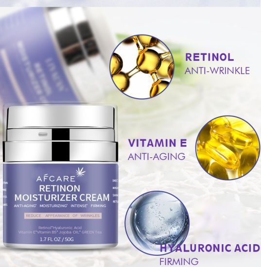 Private Label Anti Wrinkle Deep Moisturizing Hyaluronic Acid Retinol Face Cream for Skin Care