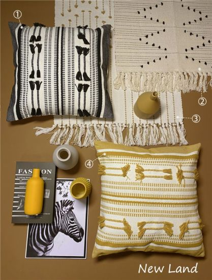 Cutted Cotton Sofa Cushions / Color Pillows Home Decorative Cushions
