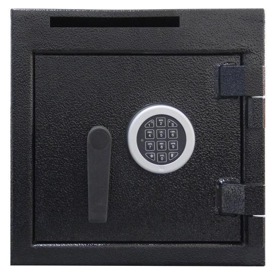 Durable Deliver Type Digital Keypad Depository Front Load Cash Safe Box with Key