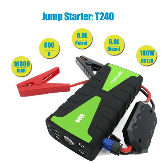 16800mAh 12V Multi-Function Smart Portable Car Jump Starter Battery Rescue