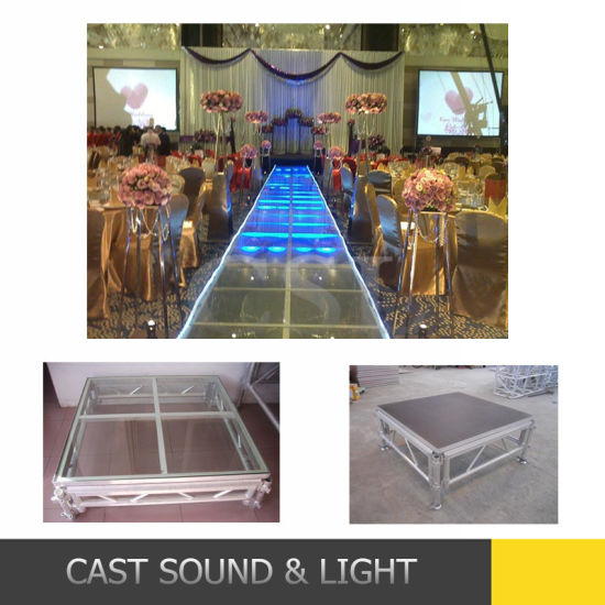 Aluminum Fiber Glass Stage Wedding Stage Truss for Sale pictures & photos