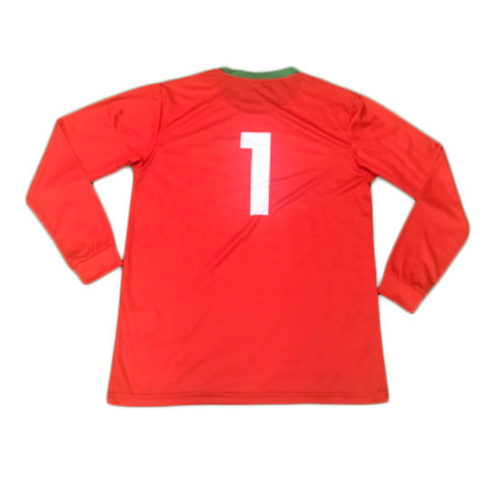 Red Sublimation Sleeved Soccer Jersey Sportswear T Shirt with Custom Logo pictures & photos