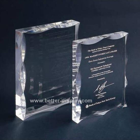 Wholesale Acrylic Crystal Trophy for Business Souvenir (BTR-I7022)