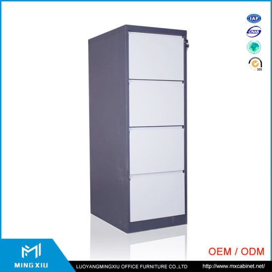 Mingxiu Office Furniture Metal 4 Drawer File Cabinet / Index Card File  Cabinet