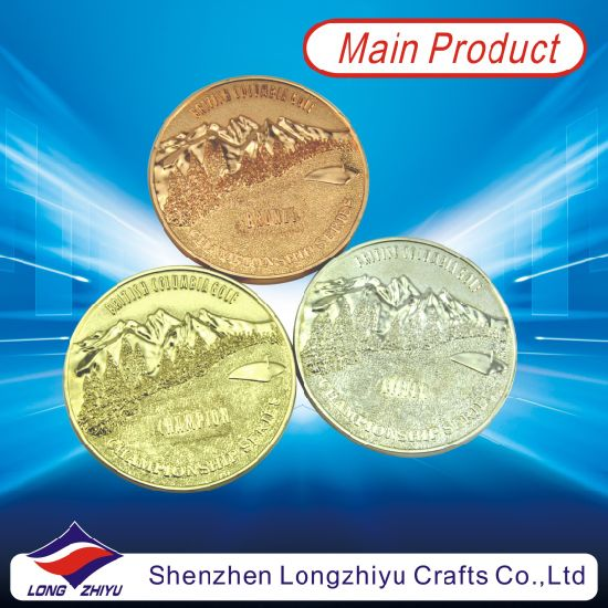 Customised Commemorative Metal Dealers Coins in Gold Silve Copper Color, Souvenir Gold Medal Award Medallion Fashion Champion Badge Coins