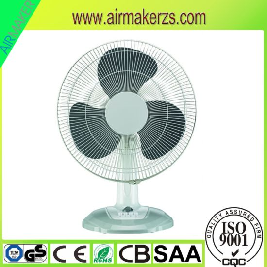"12"" 16"" Hot Sale Oscillation Plastic Table Fan with SAA/Ce/GS/RoHS pictures & photos"