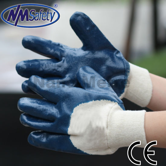 Nmsafety Bule Nitrile Work Protection Safety Glove