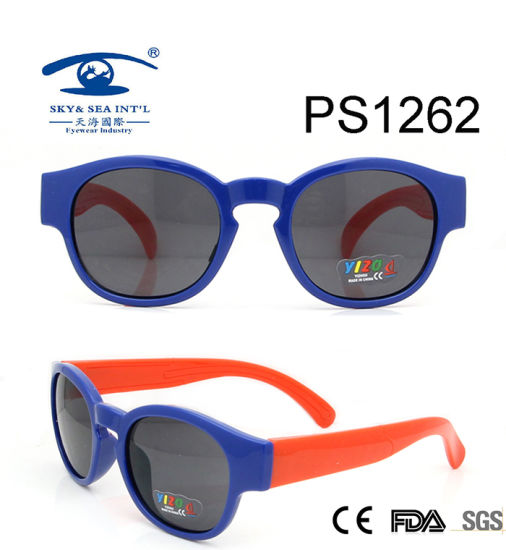 635d0ae0ab Customize New Style Blue Red Colorful Children Sunglasses (PS1262) pictures    photos