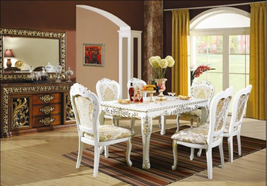 Luxury Restaurant Furniture Sets/European Style Restaurant Furniture/Antique  Style Dining Sets/Dining Room Furniture Sets (CHN 017)