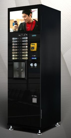 Instant and Bean to Cup Coffee Vending Machine with Big Screen Display F-308