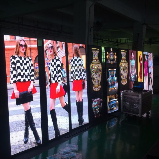 HD P2 57 LED Display Poster / LED Standee/ Mirror LED Display