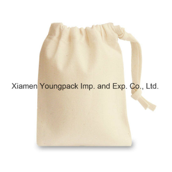 Promotional Custom Personalized Small Jewelry Gift Bag Organic Cotton  Canvas Drawstring Pouch 49002a859