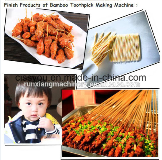 Wooden Bamboo Toothpick Skewer Sticks Chopsticks Making Machine pictures & photos
