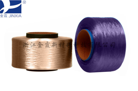 FDY Dope Dyed 600d/144f Filament Polyester Drawn Yarn pictures & photos