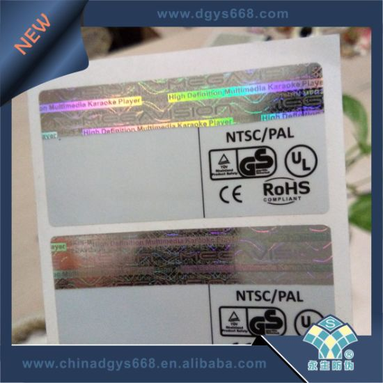 Hot Stamping Hologram Security Paper Sticker pictures & photos