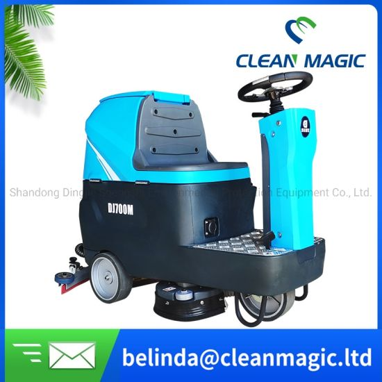 Clean Magic DJ700m Manual Floor Scrubber Dryer Road Sweeper Street Washing Machine for Disinfecting/Sterilizing