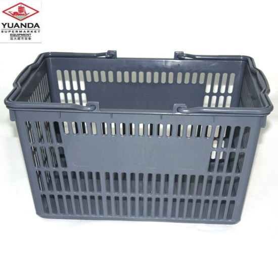 New Products PE Material Supermarket Plastic Shopping Basket pictures & photos