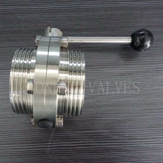 Stainless Steel Sanitary One Side Threaded One Side Welded Manual Butterfly Valve (JN-BV2010) pictures & photos