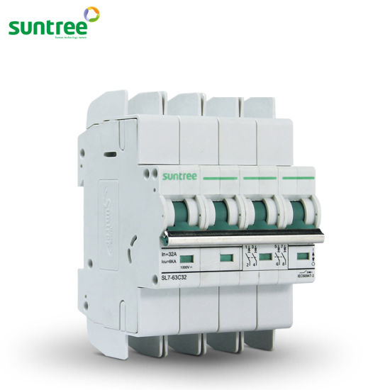 China Solar DC Circuit Breaker DC1000V 4 Pole 6A-63A DC MCB ... on
