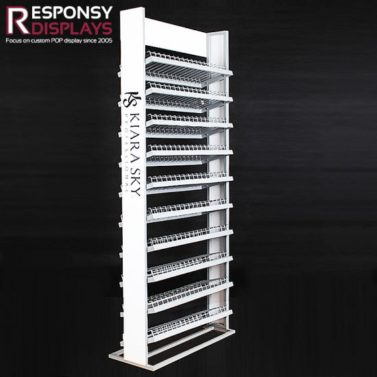 Factory Price Nail Polish Bottle Metal Shelf Dividers Storage Rack pictures & photos