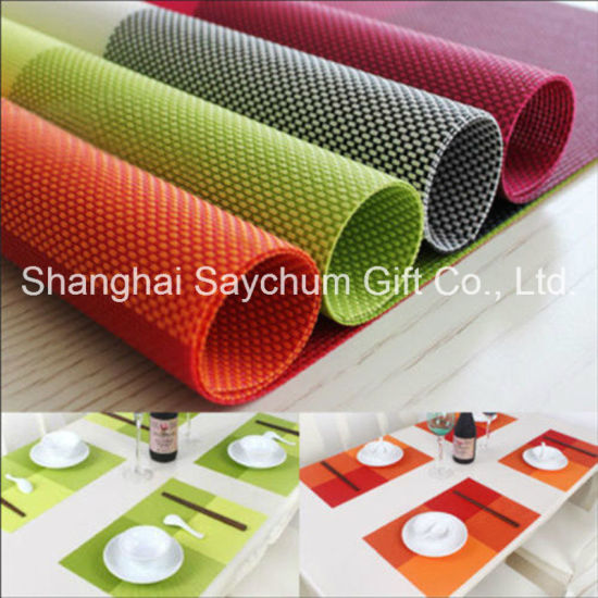PVC Coasters Kitchen Mat Dining Table Place Mats Placemats Cup Pad