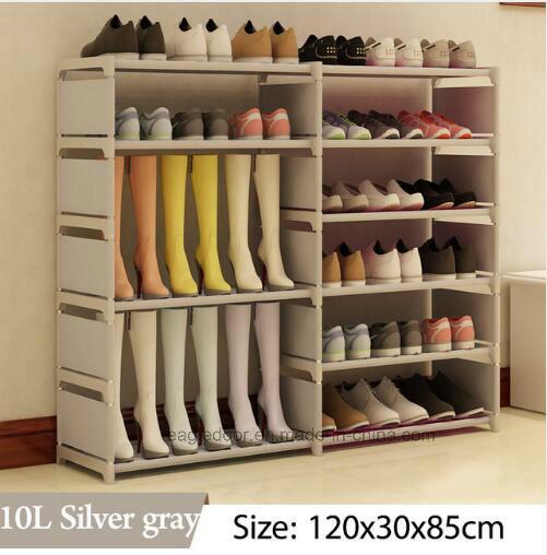 Shoe Cabinet Shoes Racks Storage Large Capacity Home Furniture DIY Simple  Portable Shoe Rack (FS 06N)