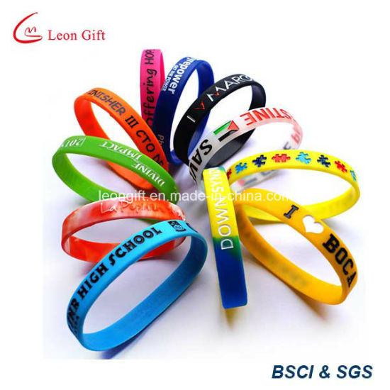Custom Printed Sports Silicone Bracelet for Promotional Gift pictures & photos