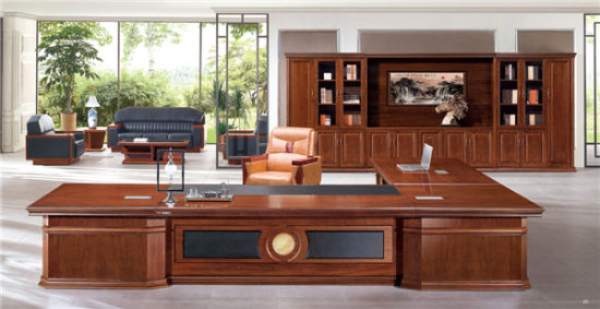 Mahogany Ceo Executive Office Desk With