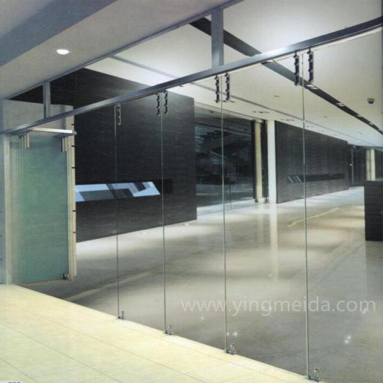 China Shower Accessories Standard Frameless Glass Folding Door