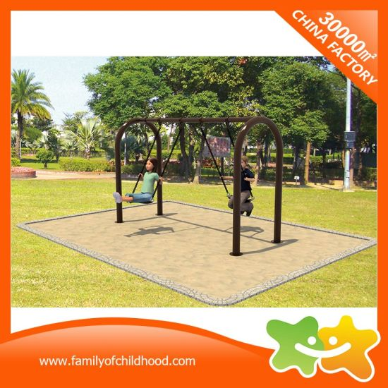 Clean Sense Style Amusement Equipment Double Swings for Children