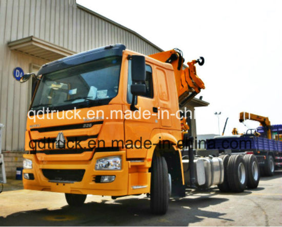 8-12 tons HOWO lorry truck-mounted crane, lorry truck pictures & photos