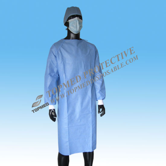 Isolation Gown Hospital Medical Patient Gown Disposable Surgical Gown pictures & photos