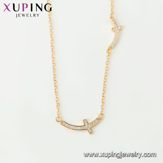 44530 Fashion Hot Sales 18K Gold Zirconia Maria Jewelry Necklace pictures & photos